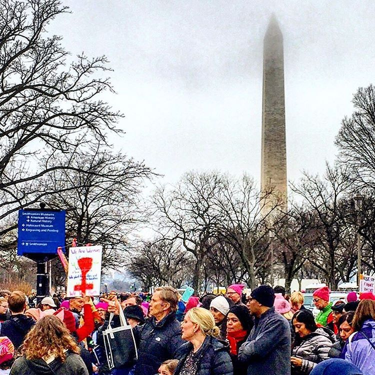 Democracy in action.  #womensmarch  (at Washington Monument National Monument)