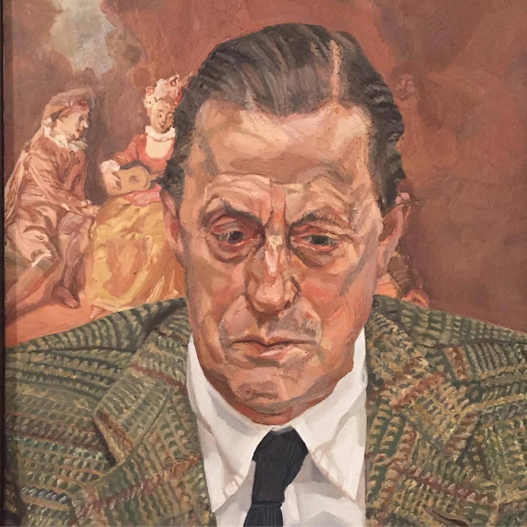 Portrait of Baron H. H. Thyssen-Bornemisza by Lucian Freud, 1981  #spain #madrid #art  (at Museo Thyssen-Bornemisza)