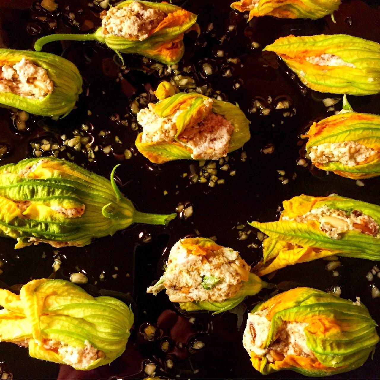 The last of summer's stuffed squash blossoms.  #summer #italianfood #garden