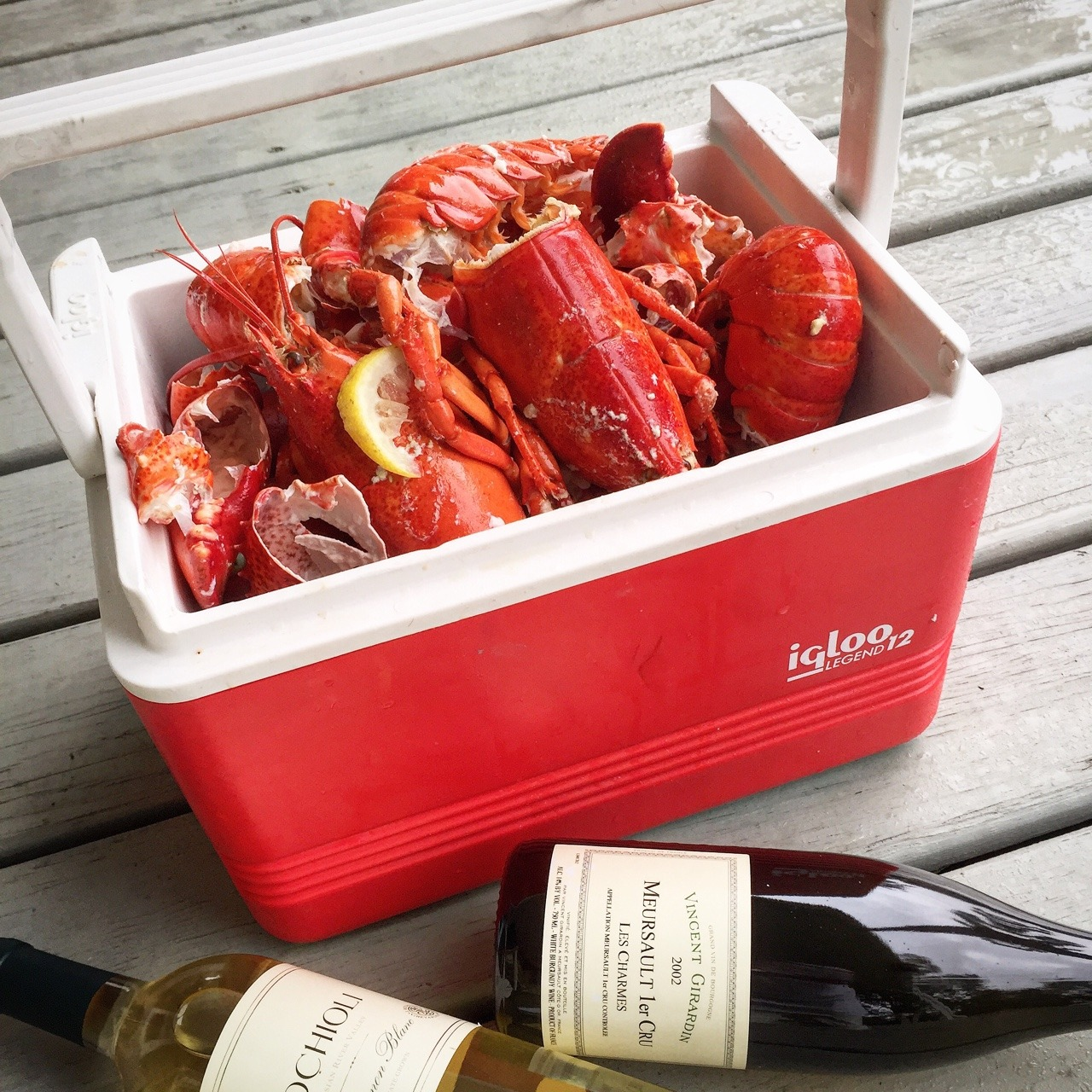 Picnic. Boothbay Harbor, Maine.  #maine #boothbayharbor #summertime #lobsterforlunch