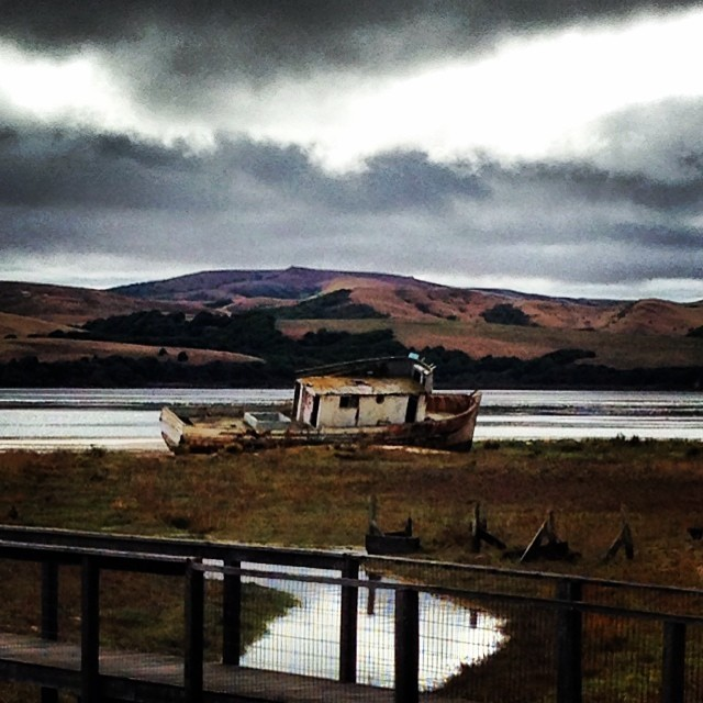 Morning reflections on Tomales Bay… (at Point Reyes National Seashore And Lighthouse)