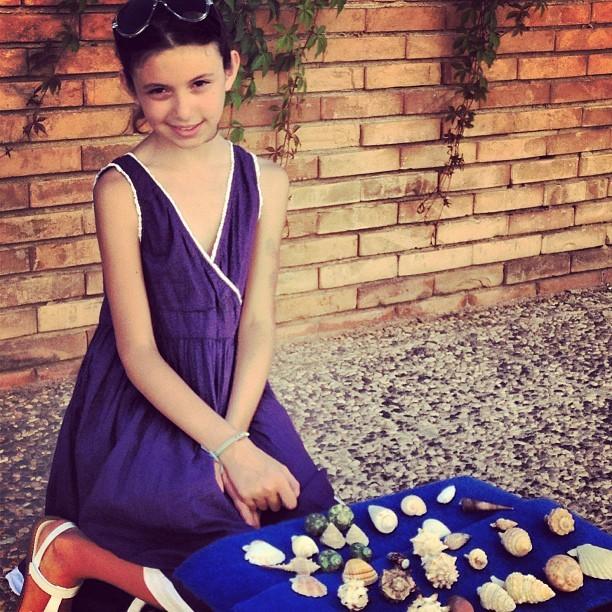 She sells seashells by the seashore….  On the Isle of Favignana, Sicily (at The Isle of Favignana, Sicily)