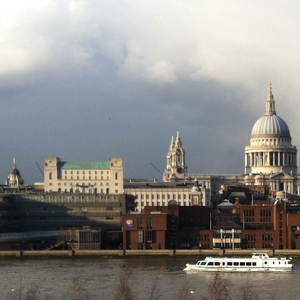 View across The Thames rivals some of the artwork… (at Tate Modern Gardens)