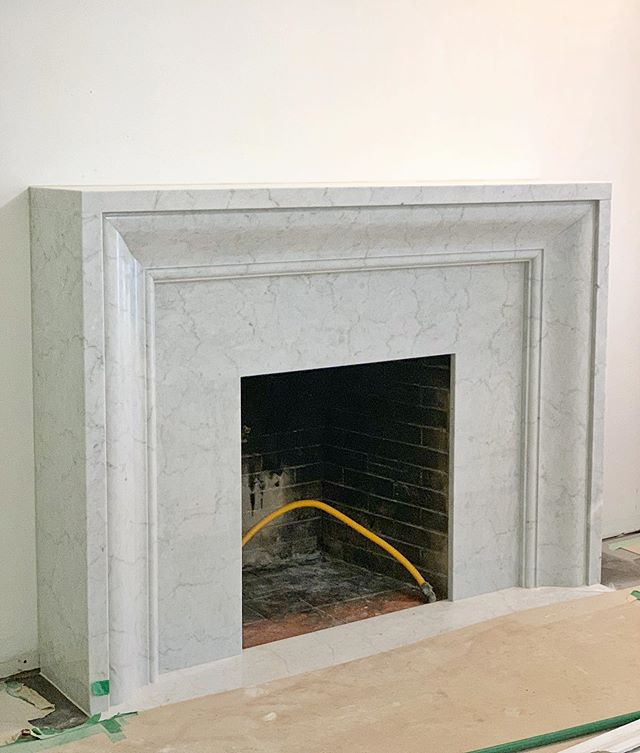 our clients custom marble fireplace looks 👌🏻.. can't wait to see this house come together! #robynmadelineinteriors