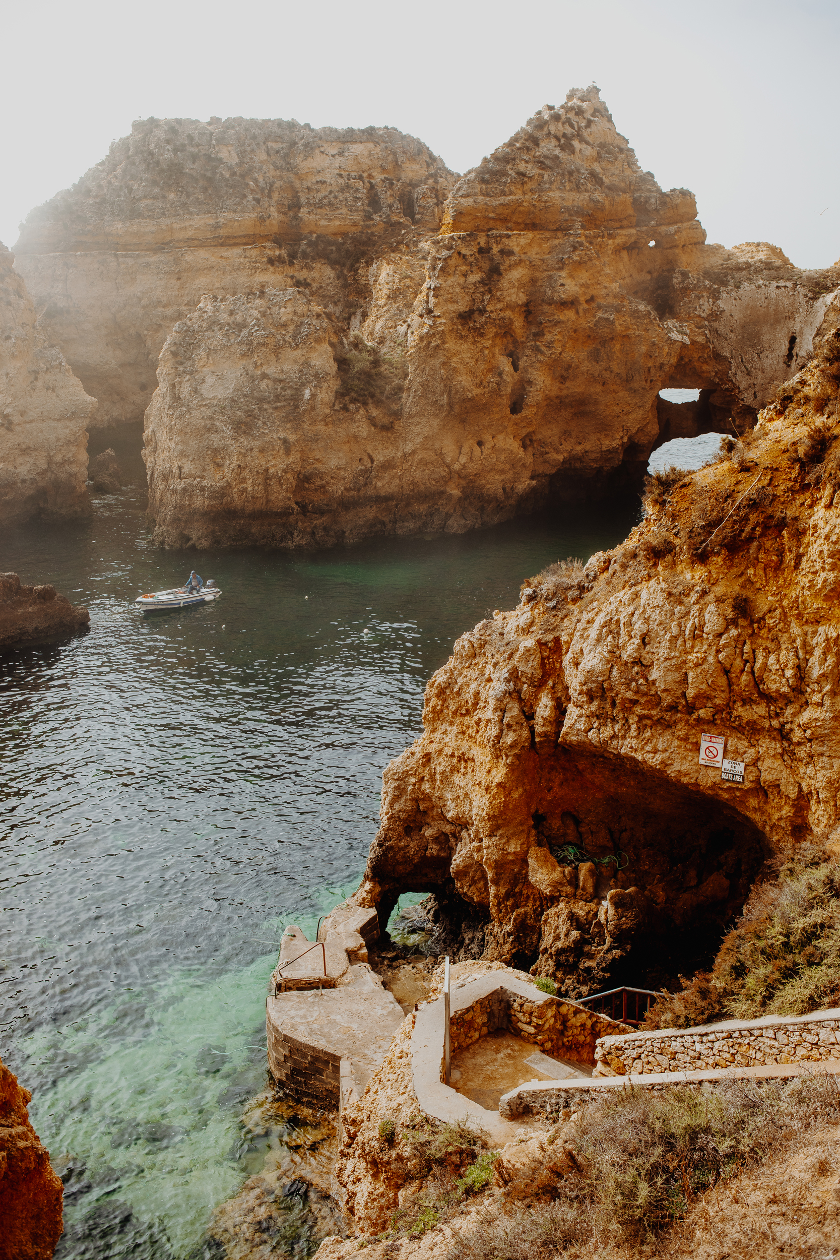Algarve cliffs: Portugal