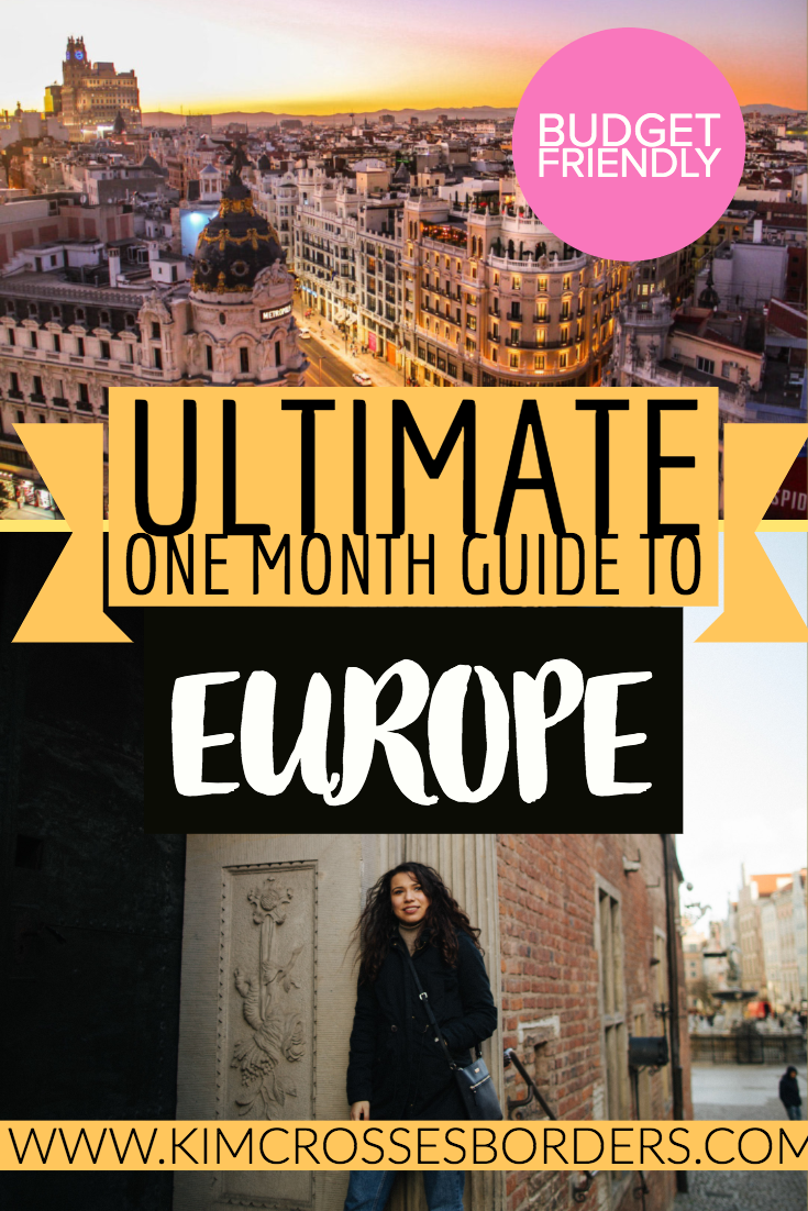 one month itinerary for Europe