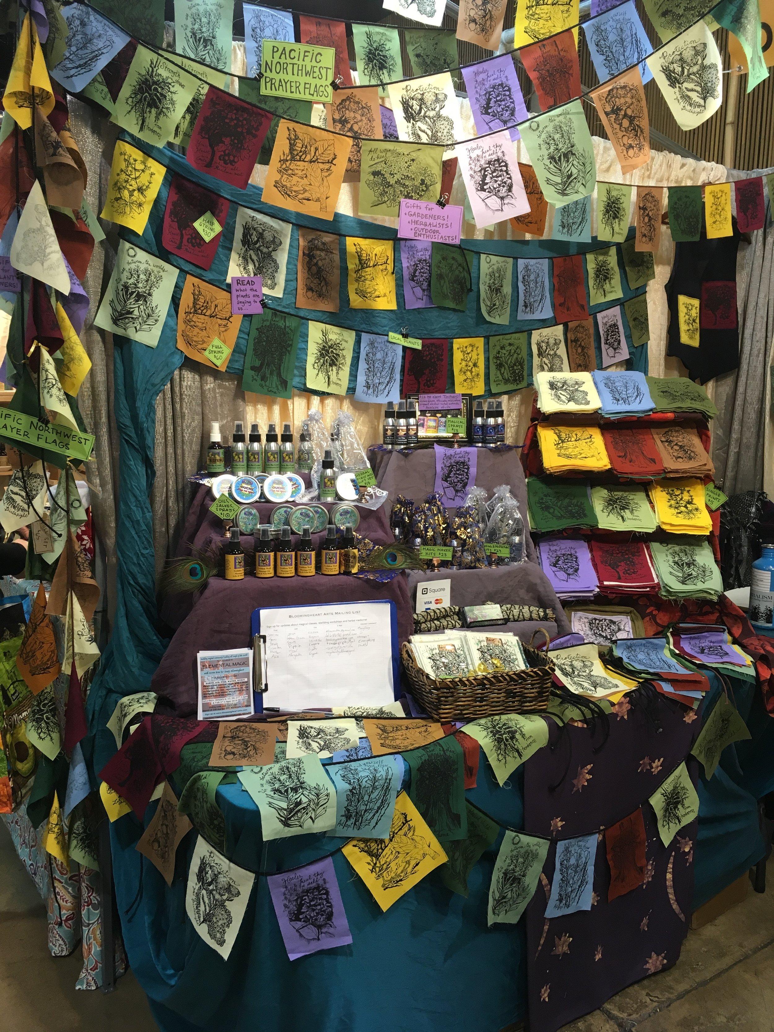herbal prayer flags