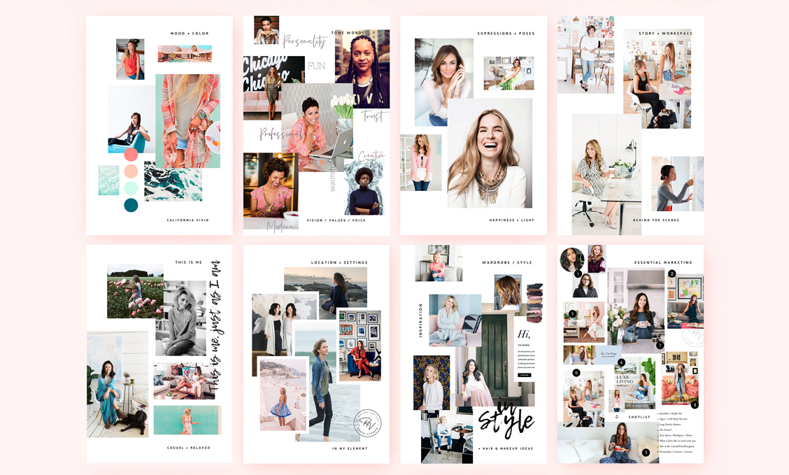 MOODBOARD CREATION - I will work with you to put together a custom Moodboard for the different types of reference looks you gravitate to. We'll use Pinterest as inspiration, to find styles which speak to you most. Then we will create some magic together to push those boundaries further in beautiful ways that uniquely captures your true essence.