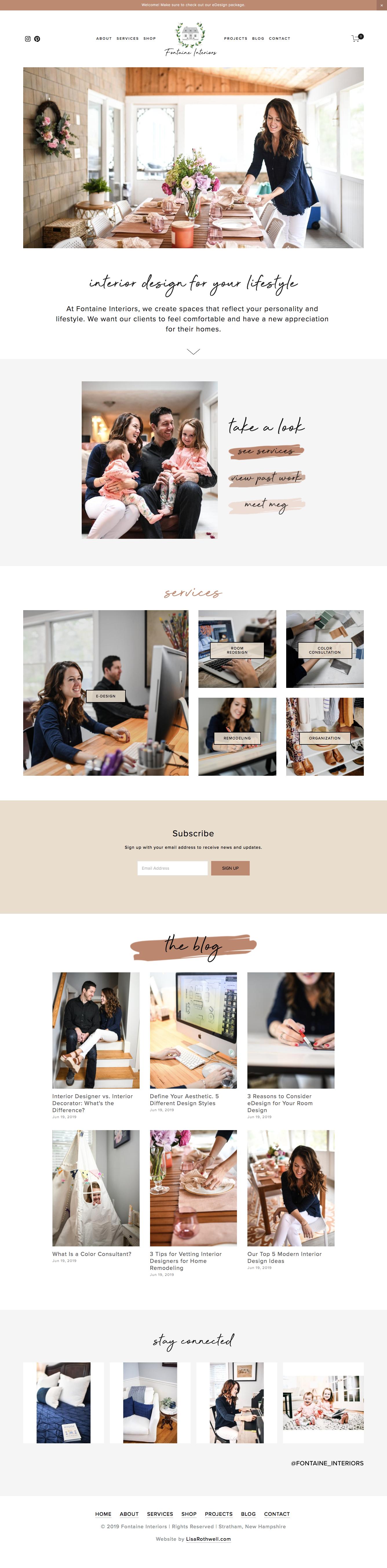Custom Website: Fontaine Interiors