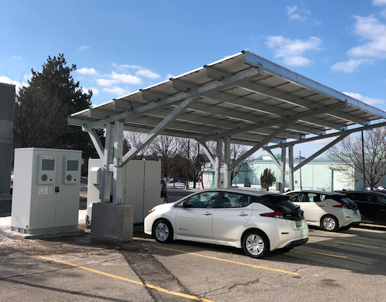 System Containing 100 kWh ESS, Solar Carport and Bidirectional EV Charger in Markham, ON