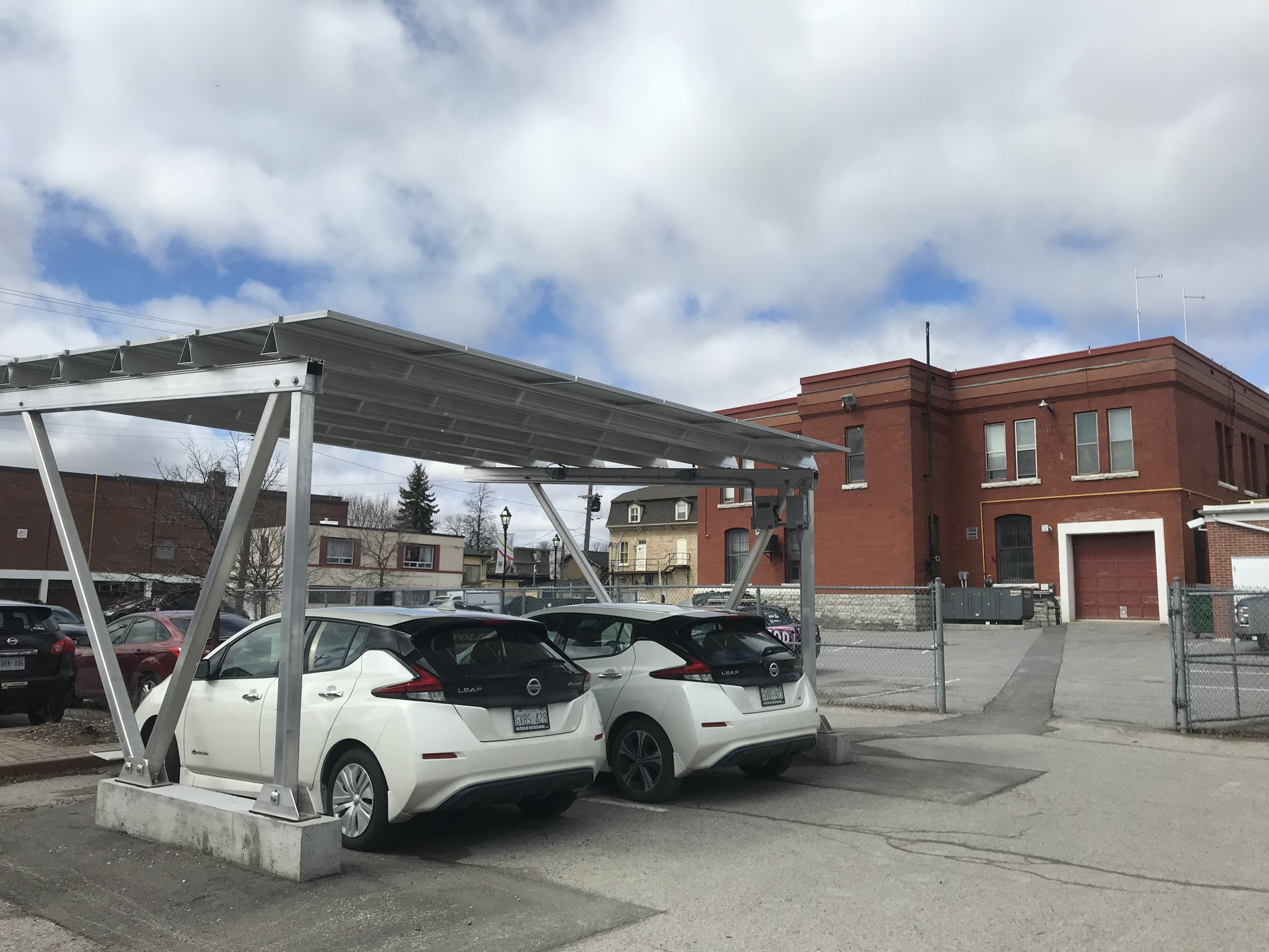Police Services Solar Carport, Level 2 and Level 3 Bidirectional EV Charger Installation, Cobourg