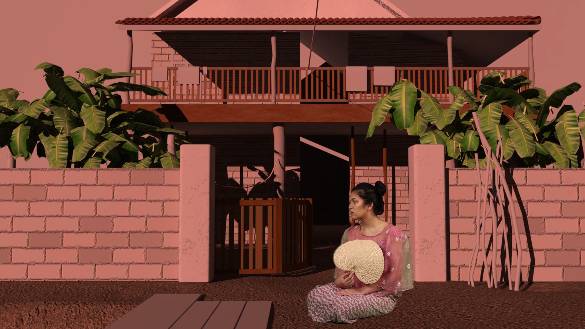 3D Model Rendering by Tristan Espinoza. Modeled after an image of Ibach's Family's Ancestral House in General MacArthur, Eastern Samar, Philippines. Which has now been demolished.