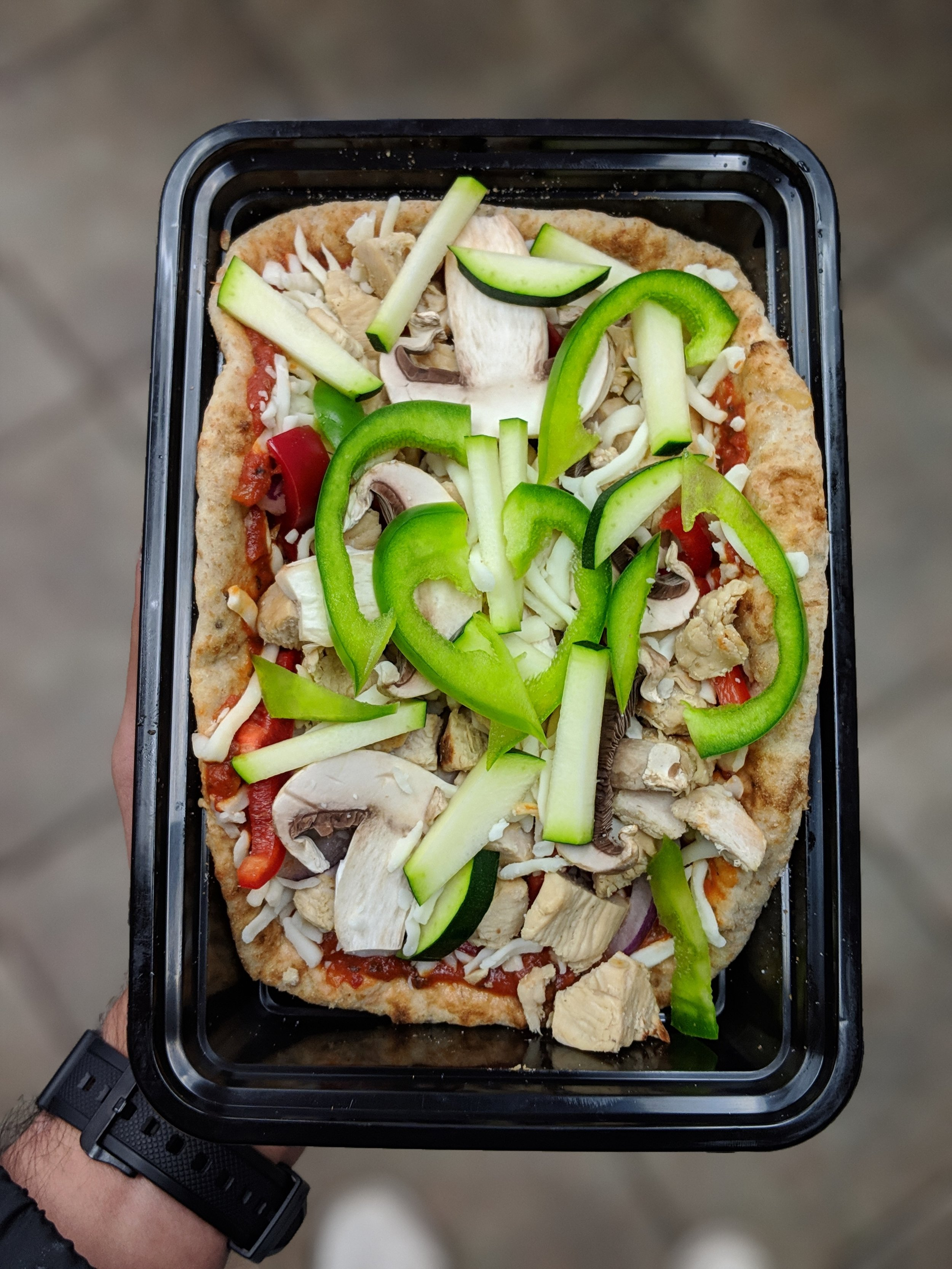 Pita Chicken Pizza