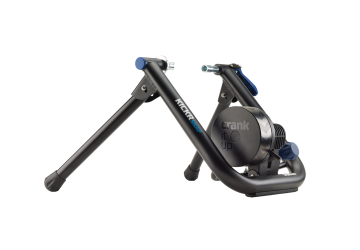 Kickr Snap - Made from high strength carbon steel and featuring a wide stance, the SNAP indoor trainer is designed to keep its feet firmly planted on the floor and your bike securely locked in so you can train with confidence.