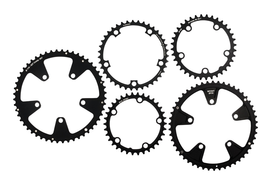 ZED 3/2 Chainrings - 10 or 11 speed compatible crankset. Design and stiffness adapted to ZED2 and ZED3 cranksets. Ultralight. Smooth, rapid and precise gear changes.