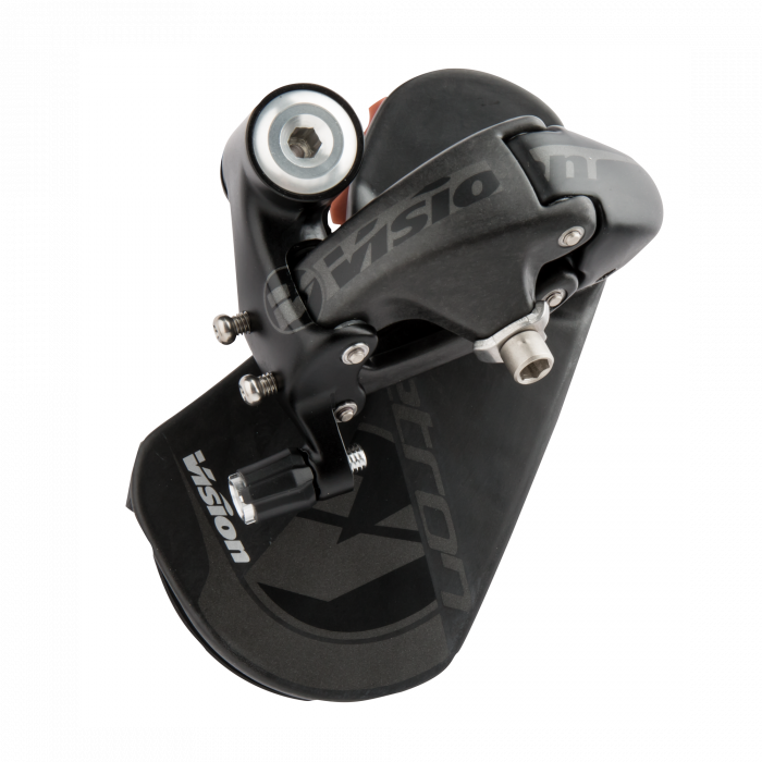 Vision Metron TT Rear Derailleur - A work of art that slices through the wind, the Vision Metron rear derailleur delivers precise performance and unmatched aerodynamics. Crafted with aluminum and carbon fiber, the Metron rear derailleur sets the standard for time trials and triathlons