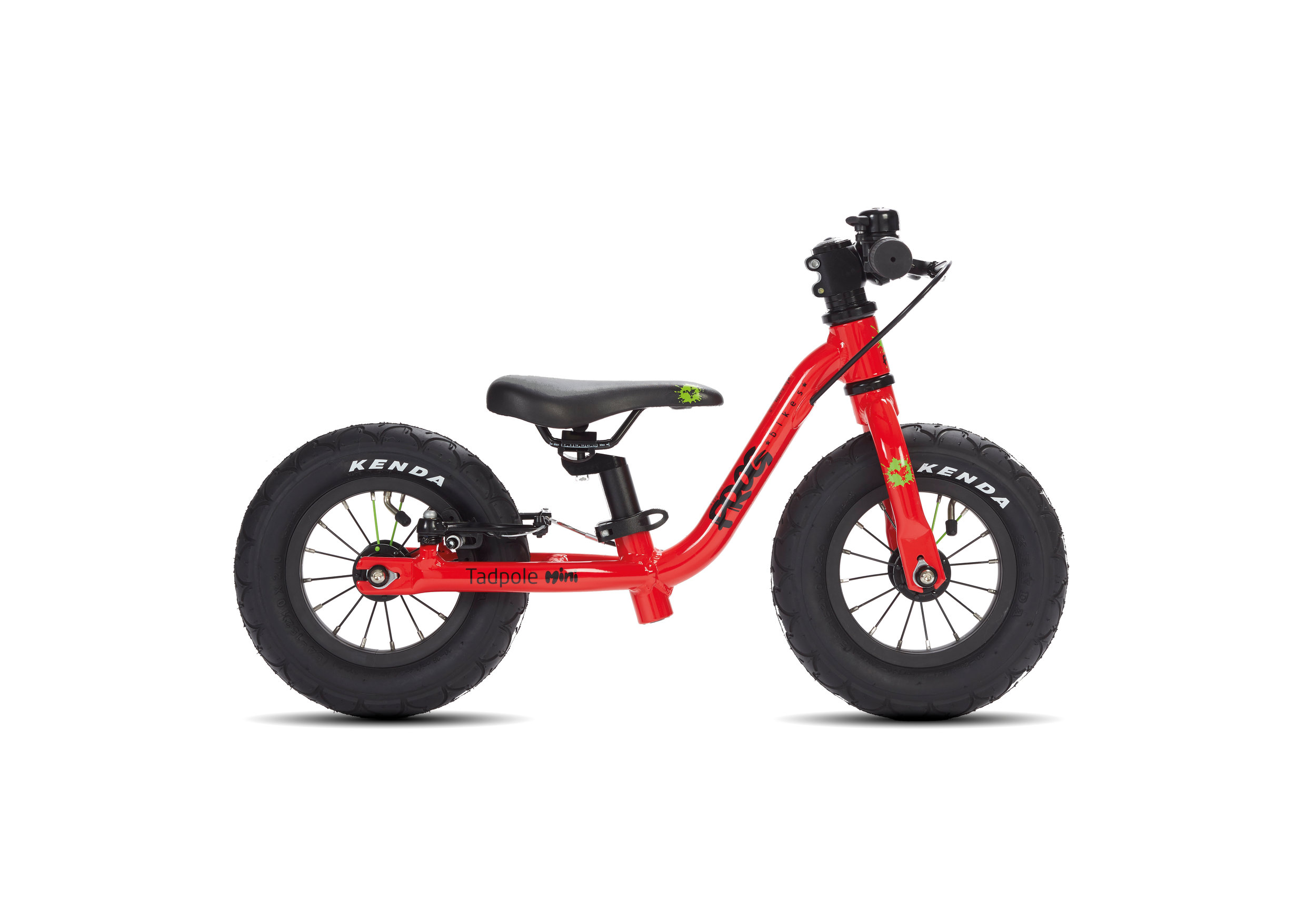 Tadpole Mini - The Tadpole Mini is a great first bike which helps the child to achieve the necessary balance to cycle. The Tadpole Mini is suitable for children aged 1 and 2 with a minimum inside leg of 24cm