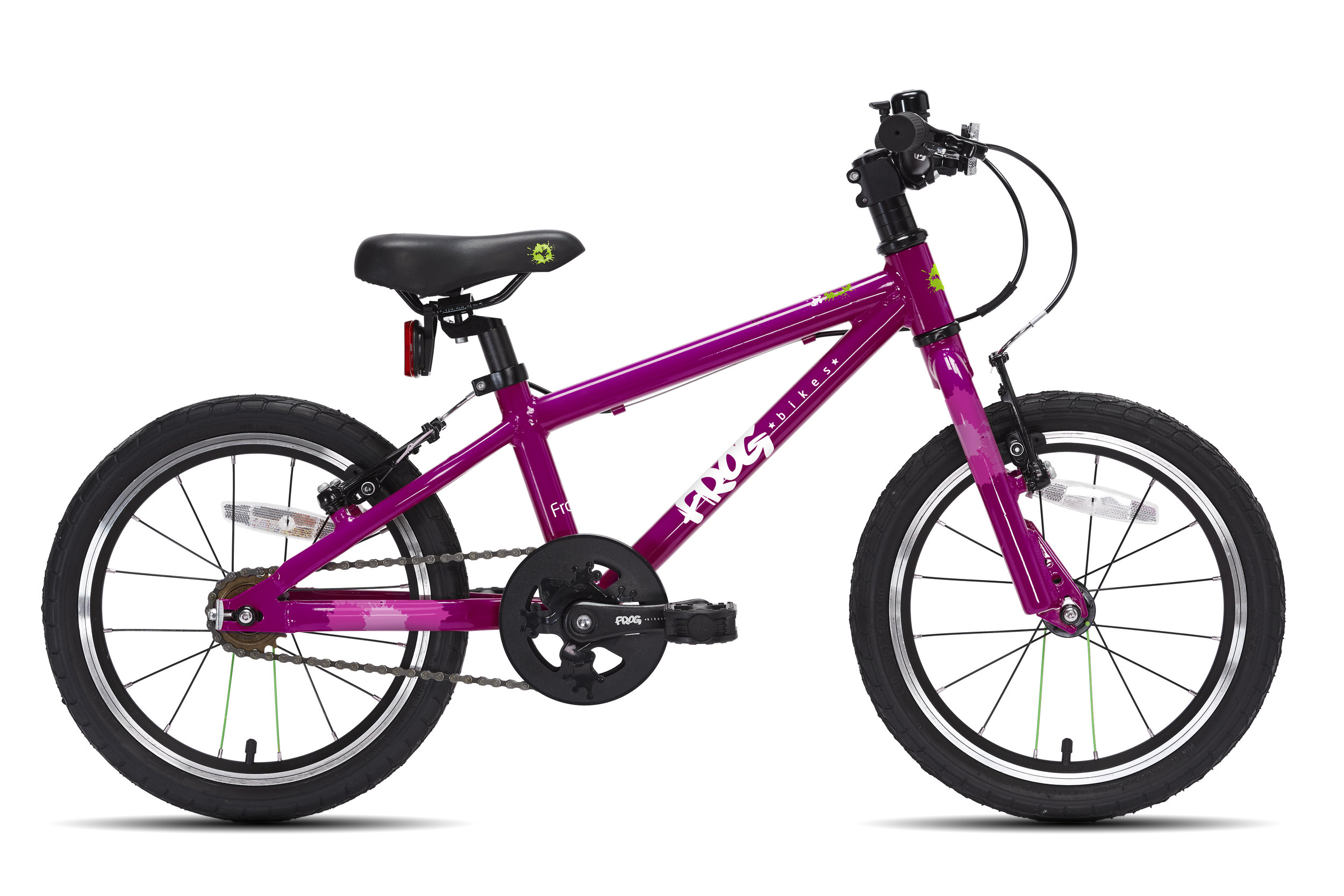 Frog 48 - The first pedal 48 is a great value bike for 4-5 year olds with a minimum inside leg of 48cm. This bike is a great confidence booster and can be used as a balance bike for a taller child by removing the pedals
