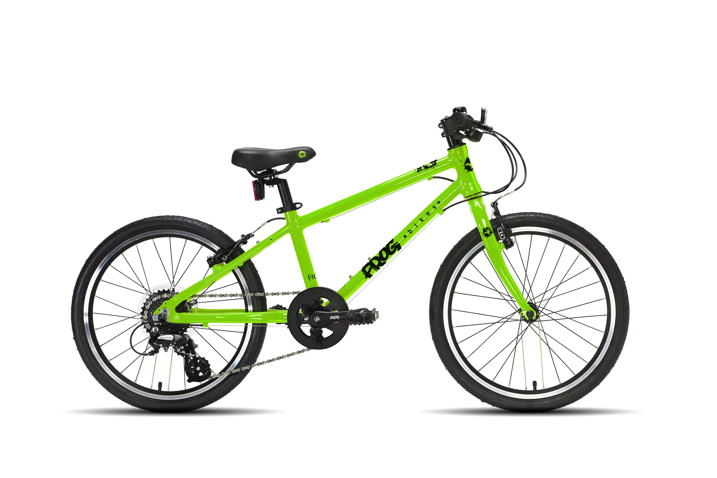 Frog 55 - This 20 inch kids' bike is a great geared bike for 6 or 7 year olds with a minimum inside leg of 55cm
