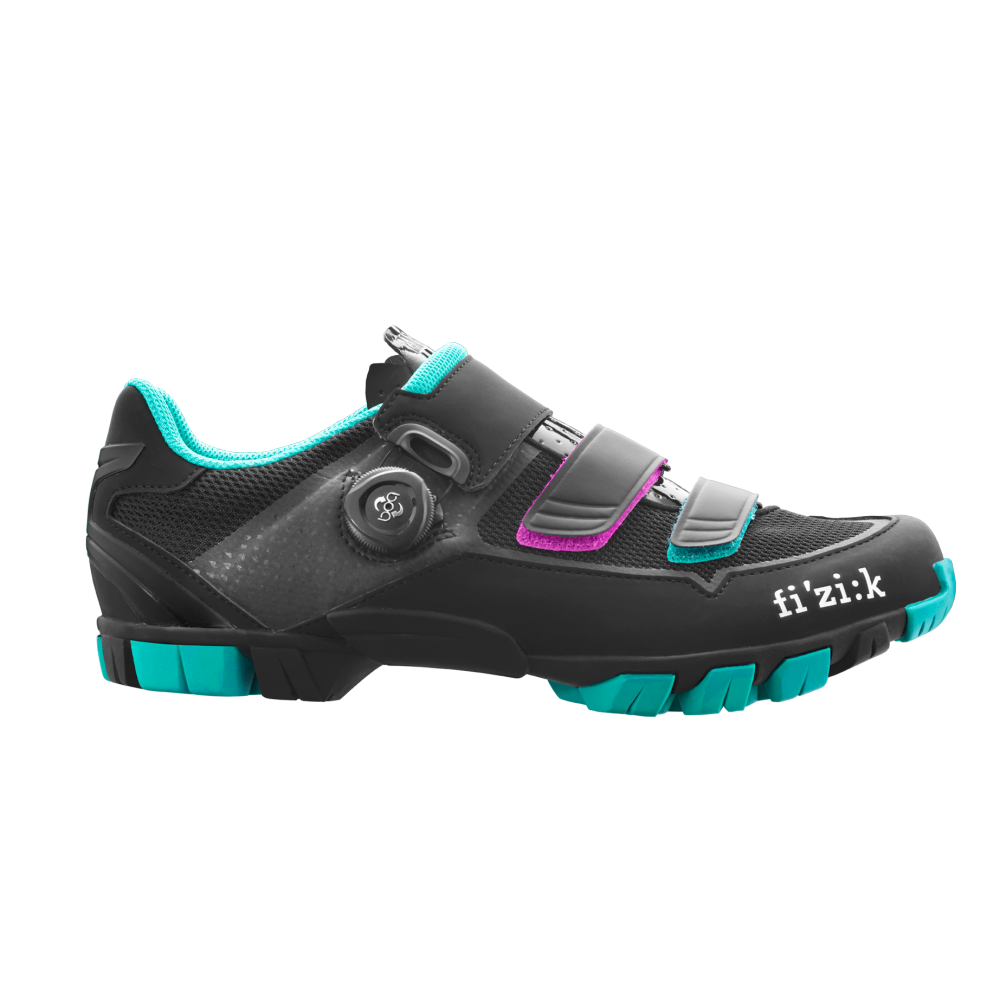 M6 - M6B Donna offers a superior blend of comfort and fit, power transfer, light weight, and trail-tough resilience. It features a tough rubber outsole combined with a carbon reinforced Nylon midsole – giving stiffness for ultimate power transfer, superior grip and protection from the trail.
