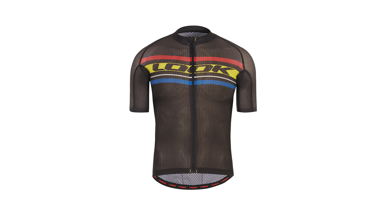 LOOK Replica KOM Jersey - Men's jersey. Aero fit/ 3 back pockets/ Bicep covering sleeves / Non-slip silicon waistband /Lightweight -80g / Breathable