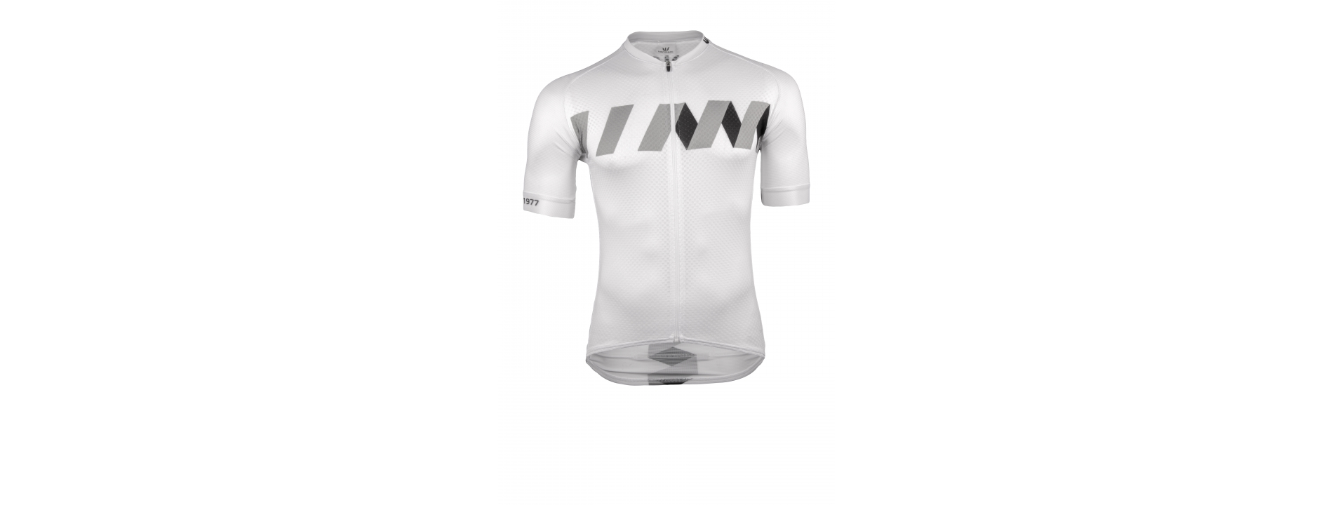 Winn White-Black Summer Jersey - Garments designed with an aerodynamic slim fit forming a second skin that makes every movement natural and comfortable.