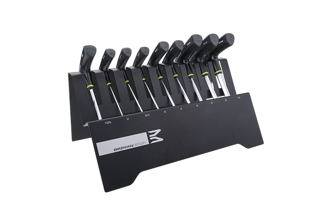 T-Bar Set w/Wrenches - The set contains 9 Cr-mo wrenches with Satin Chrome finish plus ABS handles. The sturdy torque and diamond heads with 25° angle entry offers easy access and promote efficiency even near obstructions, assisting in faster insertion and removal.