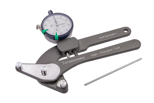Spoke Tension Meter - Mitutoyo® dial indicator.- Scales to 0.01mm.- Compatible with wheels from 18