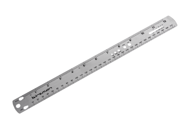 "Spoke Ruler - Measures up to 310mm/12.2"".- Features embossed markings"