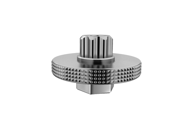 Crank Arm Cap Tool II - Compatible with Shimano® Hollowtech II™ or other 8-notch crank arm caps / SRAM® , RaceFace® or other 16mm internal hex crank arm caps.- Features 6mm hex holes for use with a hex wrench.