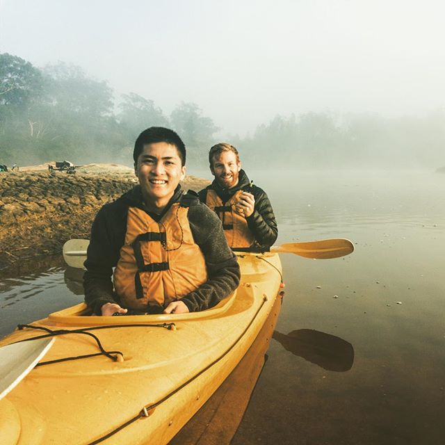 @_danieltran_ and @jamfyfe on kayak photography patrol, soaking up a saucy sunrise at Dunns Swamp. It's infinitely prettier than it sounds, I promise. Also yes, we coordinated the life jackets, kayak and paddles to match James' beard. 🧔 #NSWParks • • • #folkgood #folkcreative #vibesofvisuals #visualsgang #visualsgallery #hsdailyfeature #lastingvisuals #theimaged #takemetoaustralia #discoverearth #exploringaustralia #neverstopexploring #WeAreExplorers #roamtheplanet #beautifuldestinations #thelensbible #stayandwander #earthoutdoors #earthgallery #visualambassadors #visualsoflife #gearednomad #awesomeearth #createcommune #eclectic_shotz #shotzdelight #adventurer_collective @artofvisuals @eclectic_shotz @beautifuldestinations #newsouthwales @nswnationalparks #wollemi