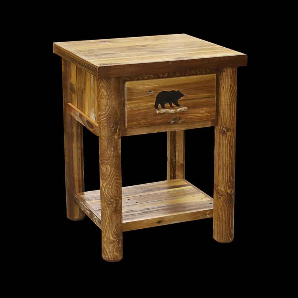 BWNS-205+R+1+Drawer+w+Rack+Nightstand-Rd+Legs,+Optional+Bear+Carving+cr.jpg
