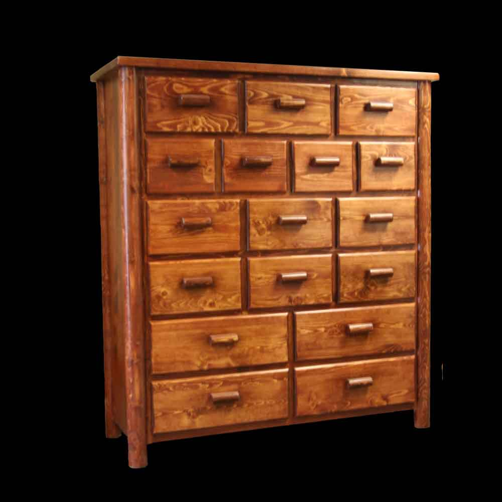 17 Drawer Unit - Optional Stain