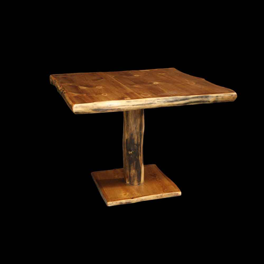 "42"" Sq Aspen Pedestal Table - Optional Stain"