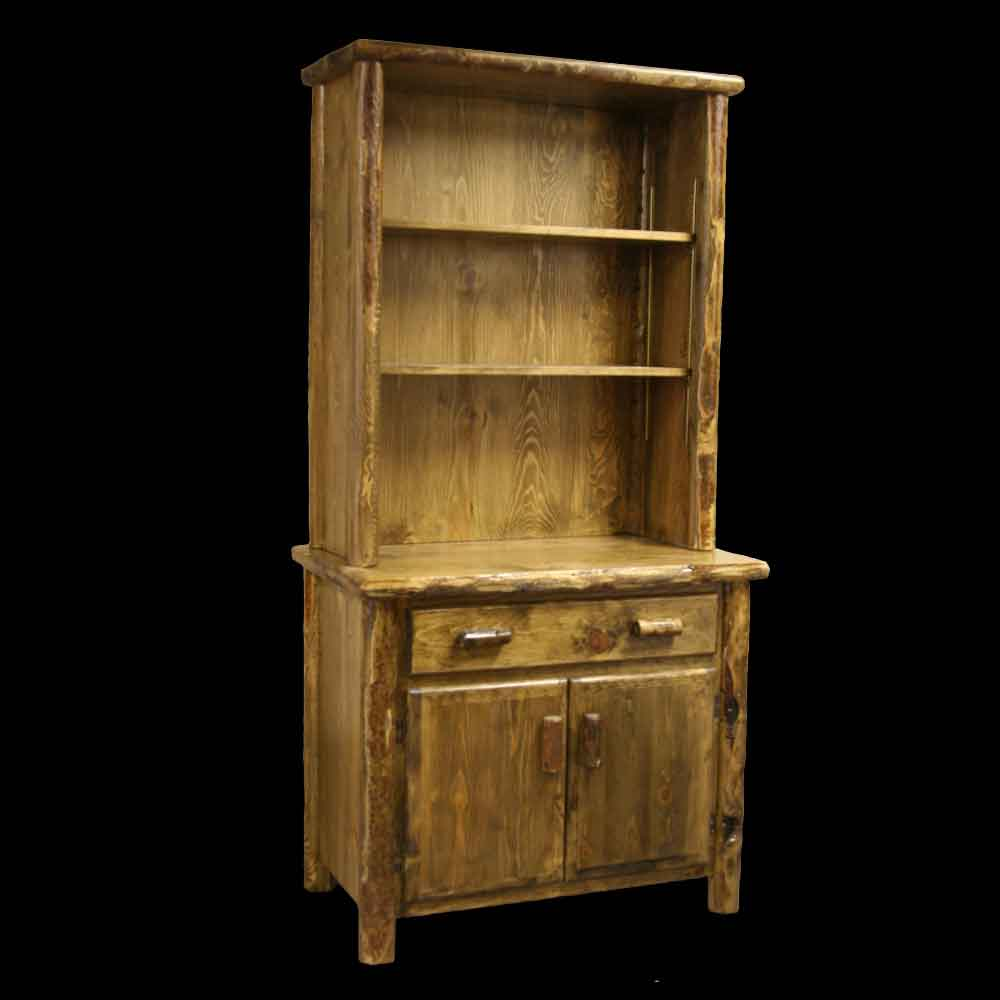 Slimline Single Hutch with Open Top - Optional Stain