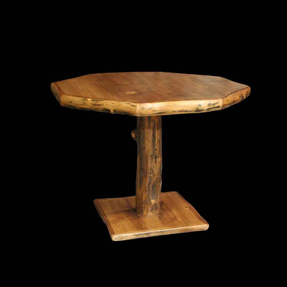 Octagonal Aspen Pedestal Table - Optional Stain