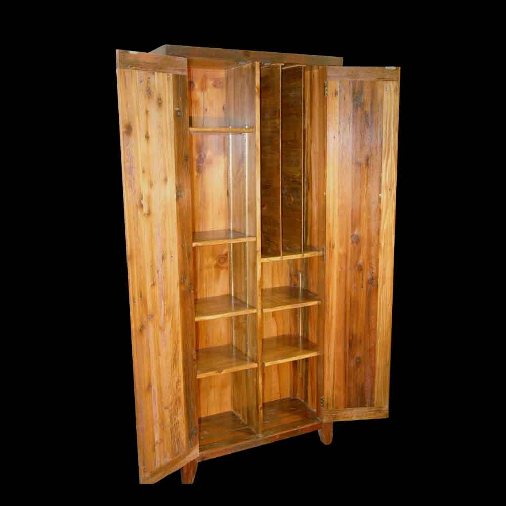 Barnwood Office Cabinet with Shelves