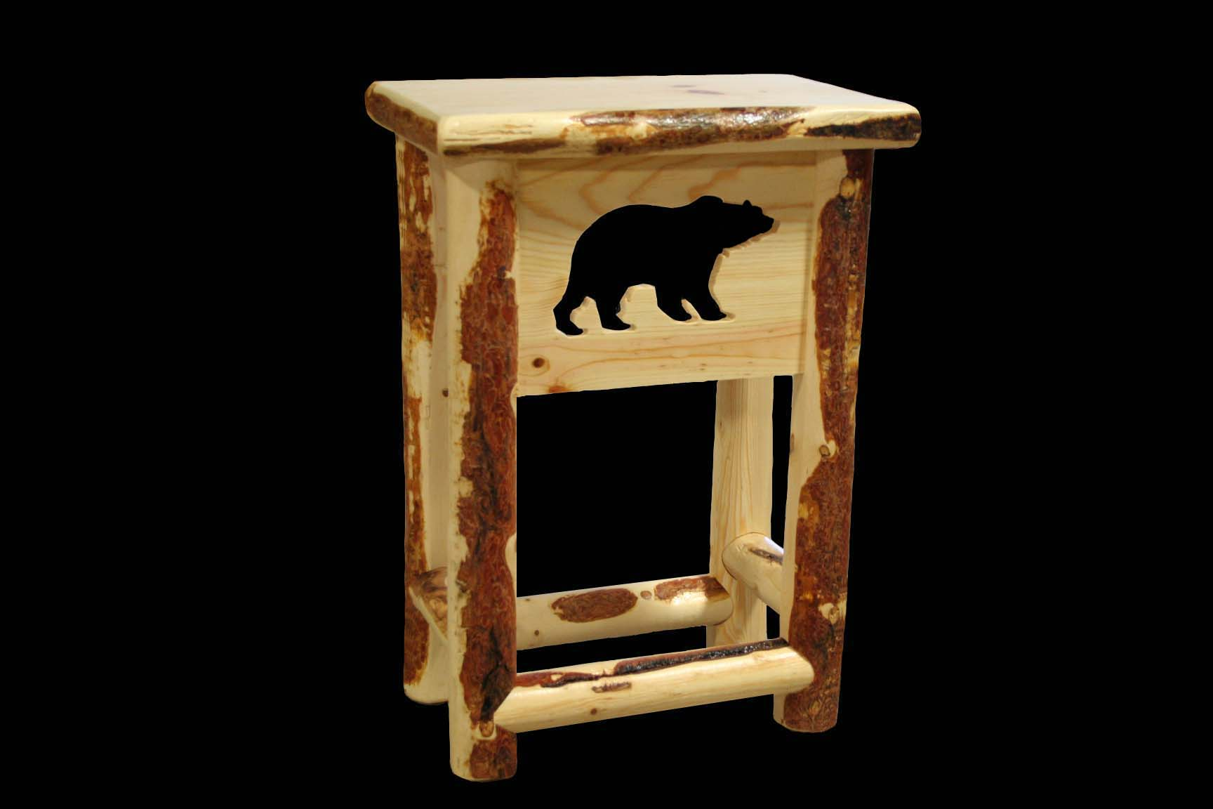 Bear Cut Out Nightstand