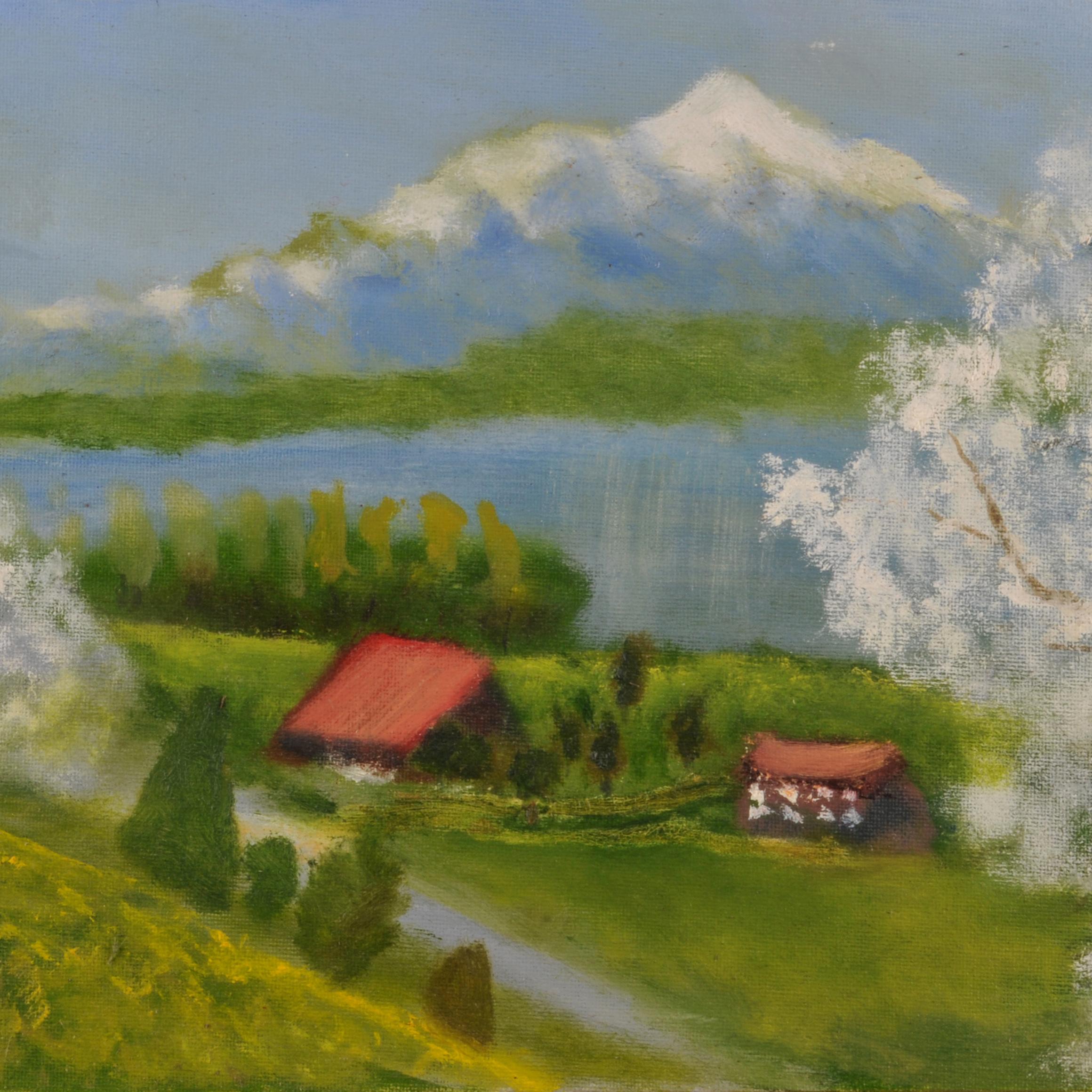Jarrod Fraser hillside painting