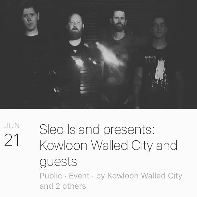 We're at Sled Island this week. Playing on Friday night at the @palominosmokehouse with @kowloonwalled @culled.ca and Palm Oil.