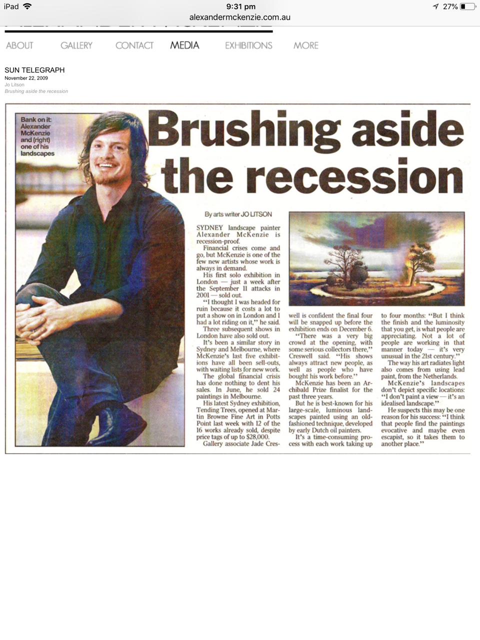 Sunday Telegraph 2009