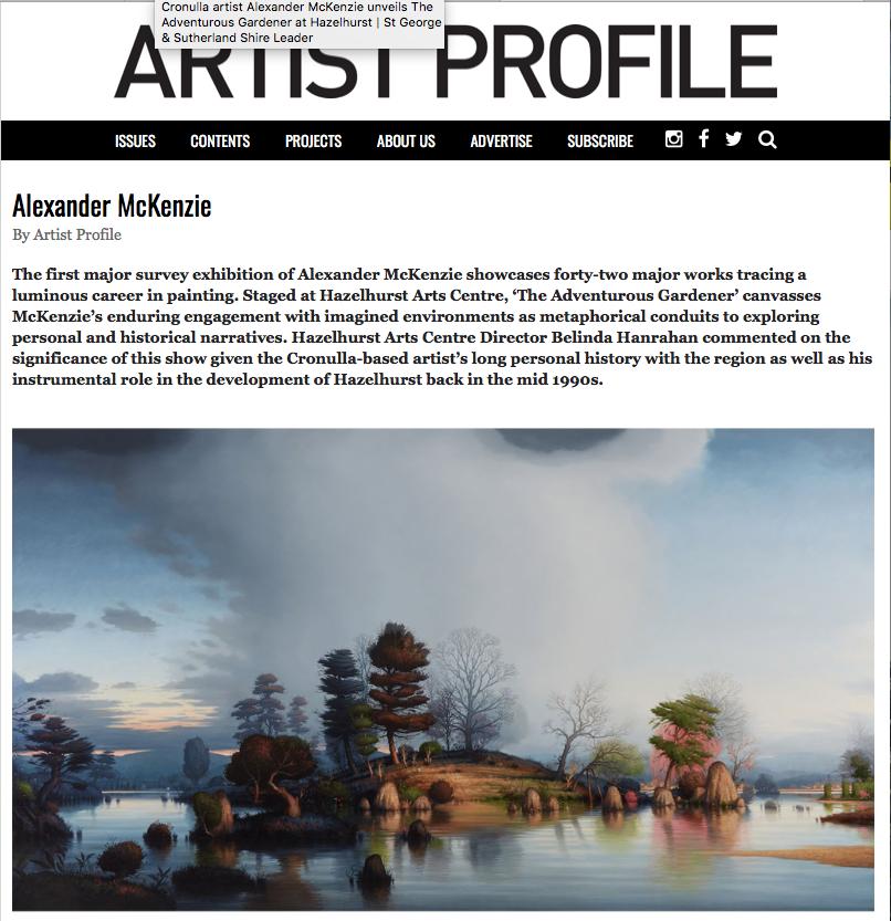 Artist Profile 2018