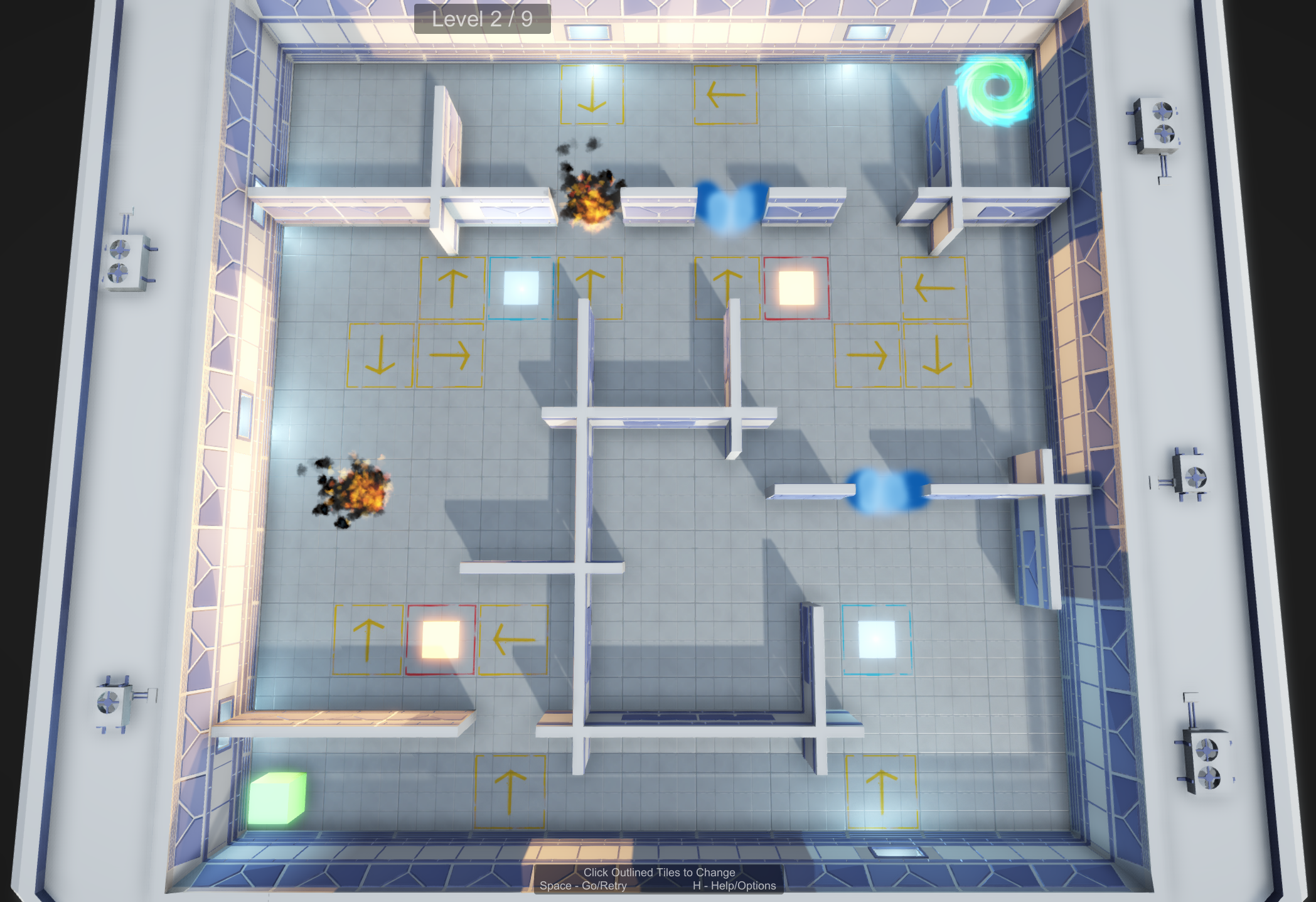 This is the level we presented after the 2.5 day Game Jam.