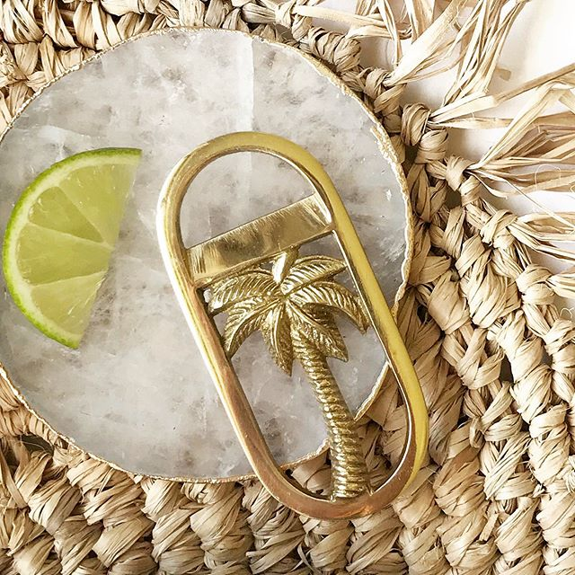 Polished brass palm tree bottle openers 🌴limited stock |  Raffia Placemats restocked 🤘 Bottle Openers $14.95 ea Raffia Placemats $22.00 ea • • #flatlay #brass #bottleopener #bottleopeners #bottleopenersofinstagram #bar #barware #cocktails #beer #palmtree #palmtrees🌴 #tableware #gift #giftideas #gifting