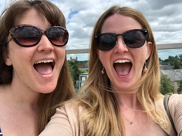 Sister date! We went for lunch up in Oxford followed by some spontaneous shopping for books and makeup. (Basically our ideal day.) And yes, we are incapable of taking photos where we're not making this expression. I blame @ishouldreadthat. #sisters #sisterdate #Oxford #bookpushers #bookstagram #booksofinstagram #enablers