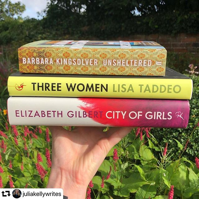 Well that's Julia's TBR pile sorted for the weekend. What are you reading?  #repost @juliakellywrites ・・・ Since I know I'll be picking up a ton of books at the Romance Writer's of America conference in less than two weeks, my #amreading and #TBR pile stays well away from romance for a bit of a refresh. (And @enw_reads, your recent post on City of Girls is totally to blame for me impulse buying it the other day so thank you!) #amreading #Unsheltered #ThreeWomen #CityofGirls amreading #books #booknerd #booksofinstagram