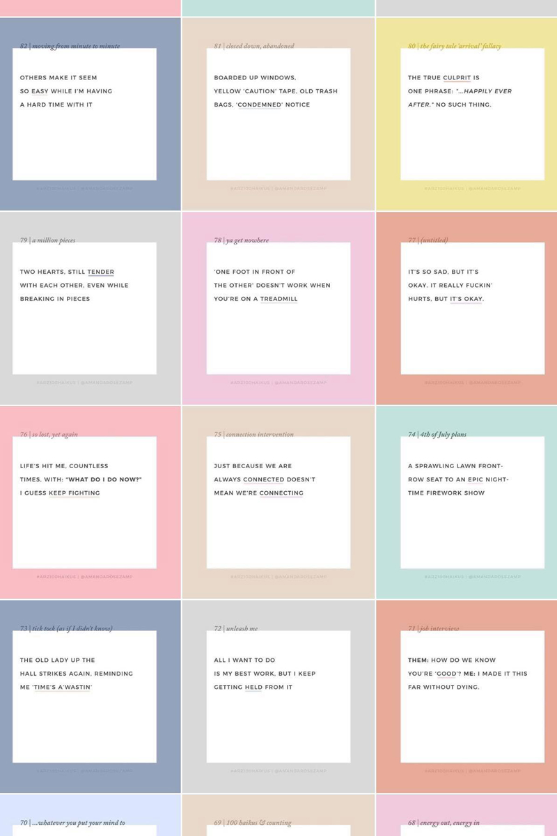 100 haikus for The 100 Day Project | Amanda Zampelli.jpg