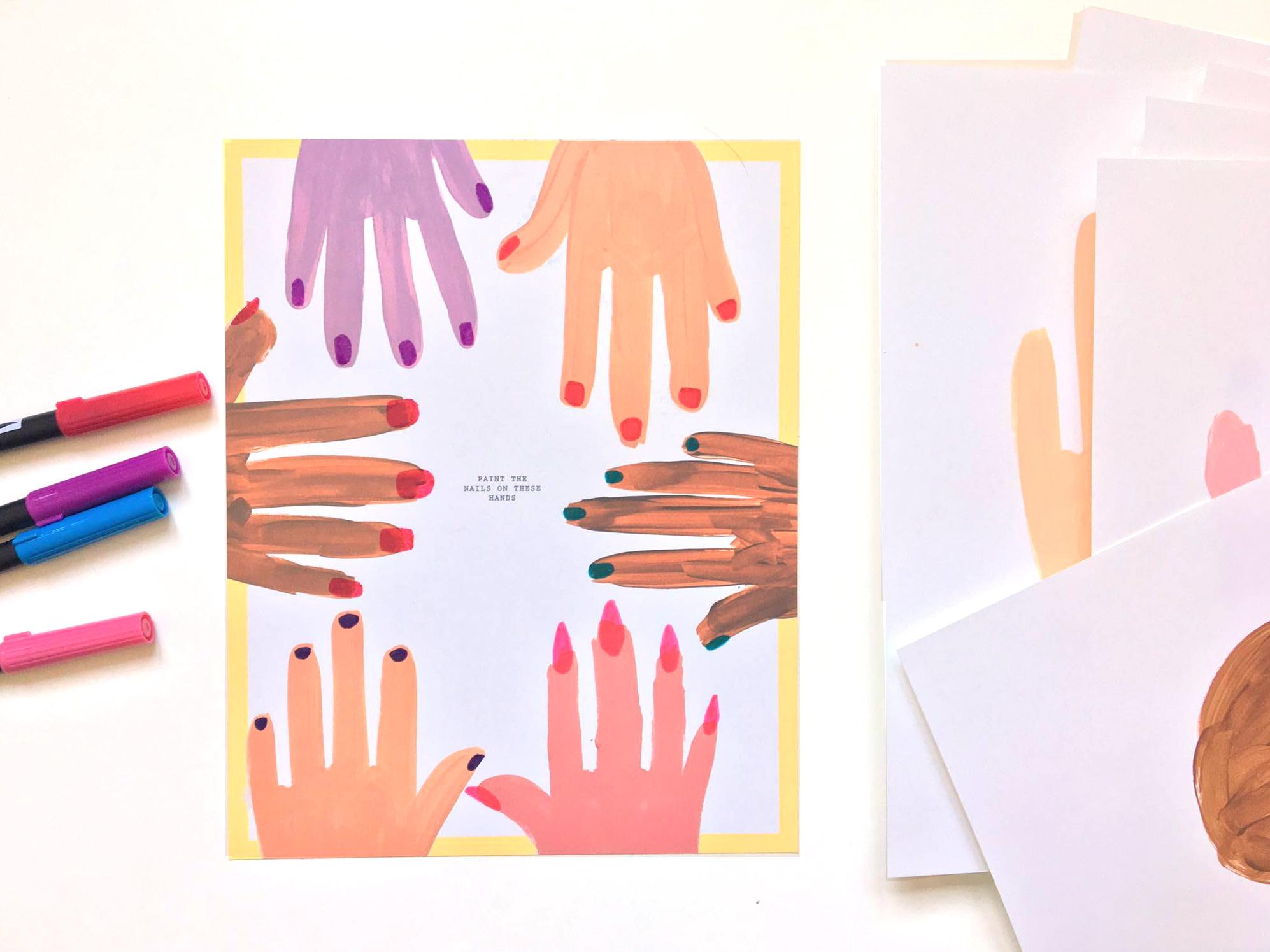 Painted Hands | Amanda Zampelli