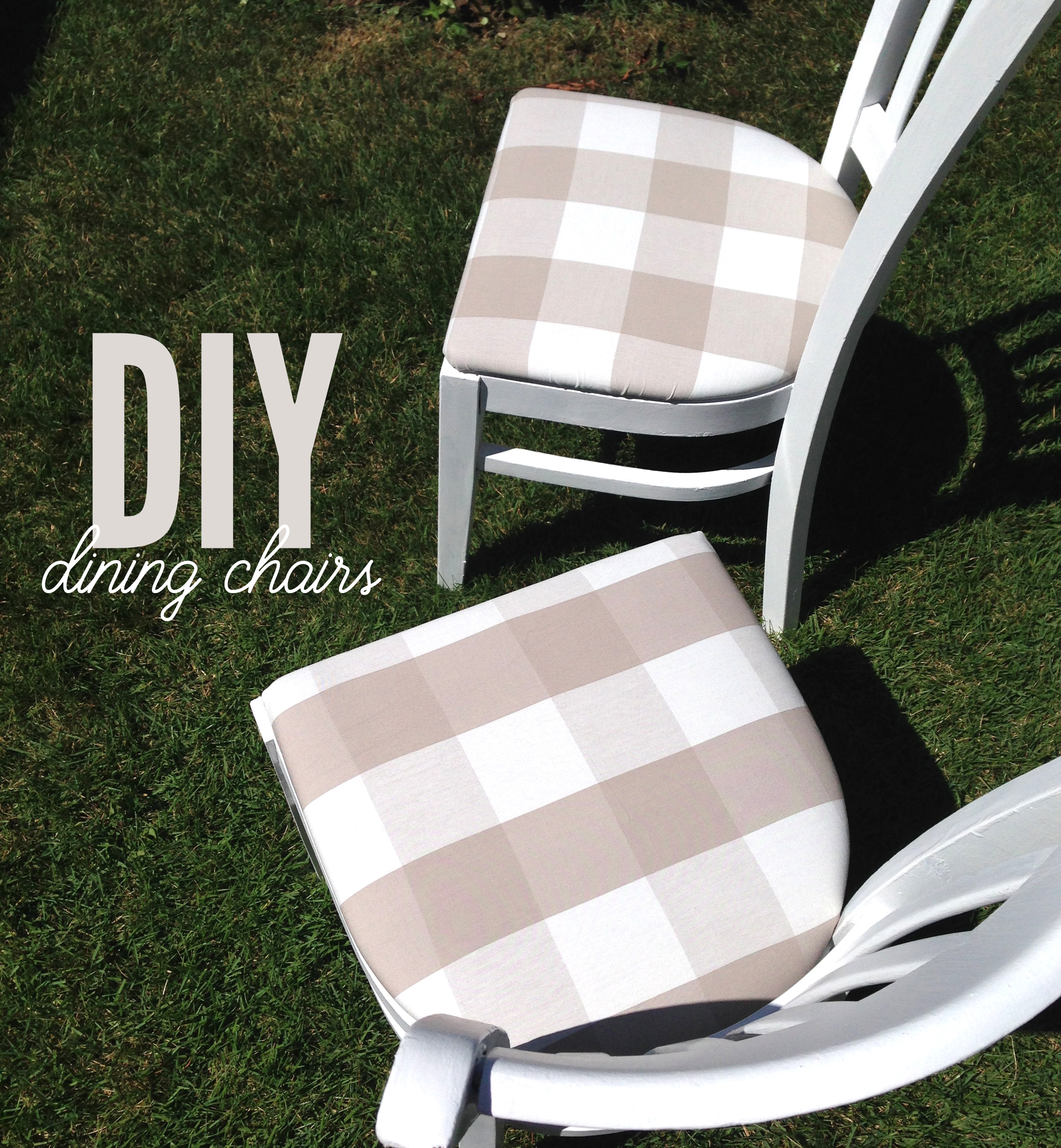 painted and reupholstered dining chairs - DIY home decor   Amanda Zampelli