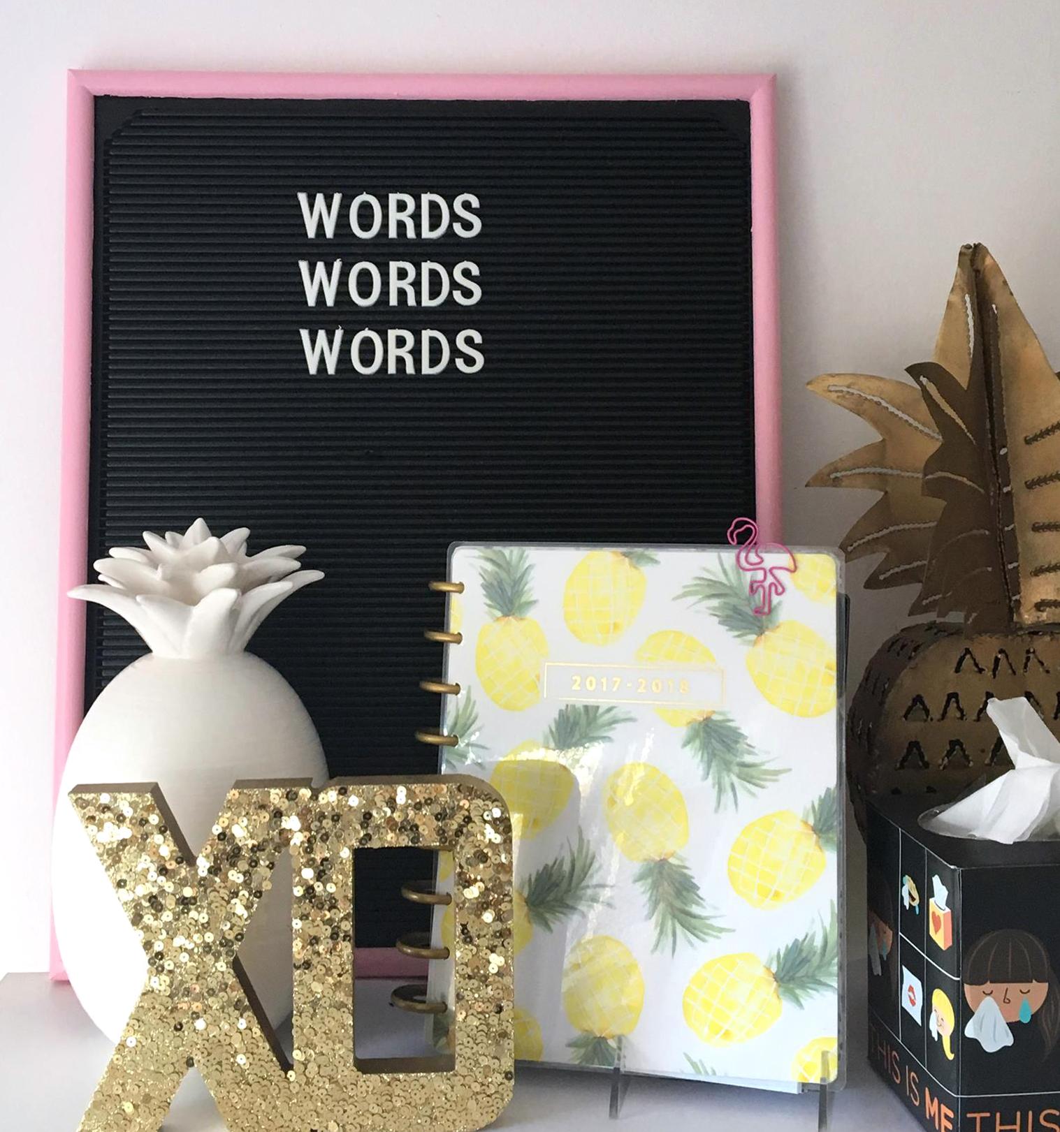DIY painted letterboard frame | Amanda Zampelli